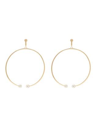 Main View - Click To Enlarge - Chloé - 'Darcey' Swarovski pearl hoop earrings