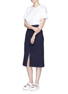 FFIXXED STUDIOSDetachable panel seersucker skirt