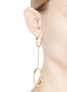 Chloé 'Darcey Dangling' Swarovski pearl link hoop earrings