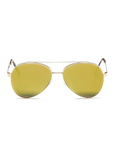 Spektre 'Domina' flat mirror lens aviator sunglasses