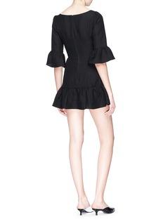LPA Wavy V-neck ruffle dress