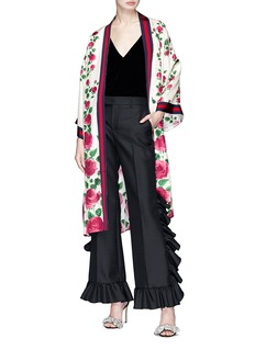 Gucci Ruffle suiting pants