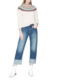 Loewe Phone embroidered straight leg jeans