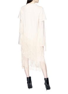 Loewe Logo print tiered fringe cotton-silk T-shirt dress
