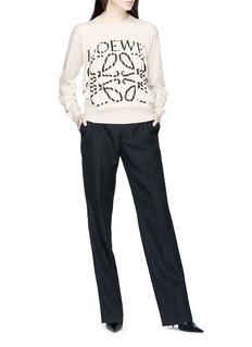 Loewe Cutout logo front cashmere sweater