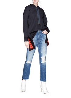 MOTHER 'Dazzler Shift' step waist ripped jeans