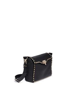 VALENTINORockstud flap leather satchel