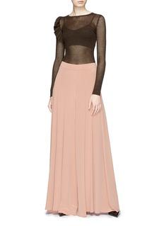 ANIRAC 褶裥真丝半身裙