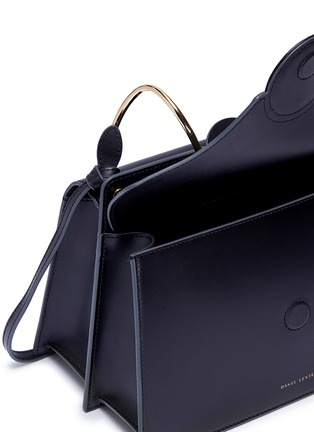 Detail View - Click To Enlarge - Danse Lente - 'Phoebe' spiral ring leather crossbody bag