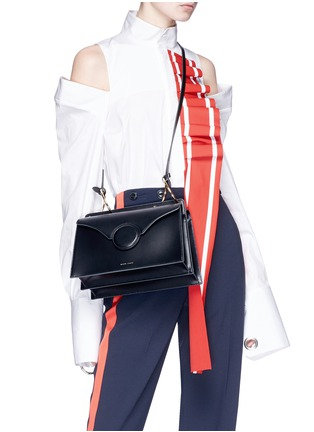 Figure View - Click To Enlarge - Danse Lente - 'Phoebe' spiral ring leather crossbody bag