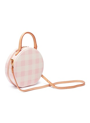 Detail View - Click To Enlarge - Mansur Gavriel - 'Circle' gingham check canvas crossbody bag