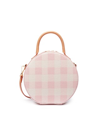Main View - Click To Enlarge - Mansur Gavriel - 'Circle' gingham check canvas crossbody bag