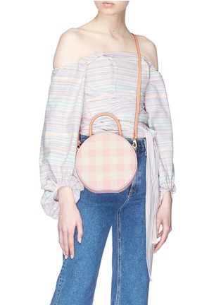 Figure View - Click To Enlarge - Mansur Gavriel - 'Circle' gingham check canvas crossbody bag