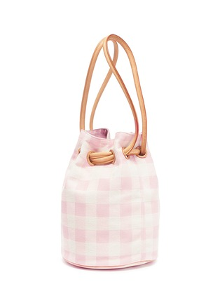 Detail View - Click To Enlarge - Mansur Gavriel - Gingham check canvas bucket bag