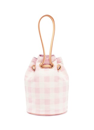 Main View - Click To Enlarge - Mansur Gavriel - Gingham check canvas bucket bag