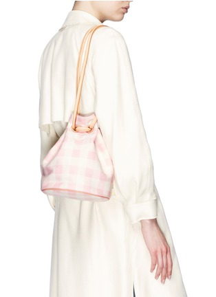 Figure View - Click To Enlarge - Mansur Gavriel - Gingham check canvas bucket bag