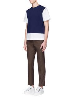 MarniColourblock shirt hem cotton T-shirt