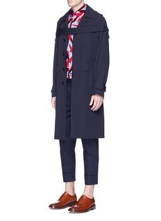MarniDetachable strap virgin wool coat