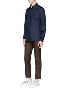 MarniContrast trim cotton shirt
