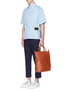 MarniContrast strap cotton poplin shirt
