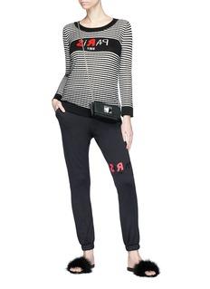 Sonia Rykiel 'Paris 1968' slogan intarsia stripe silk-cotton sweater