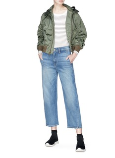 Vince 'The Utility' twisted wide leg jeans