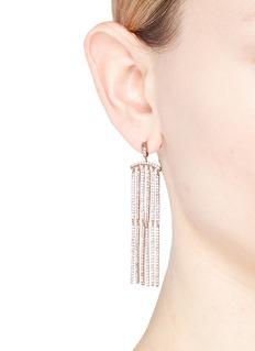 CZ by Kenneth Jay Lane Cubic zirconia bar link drop earrings
