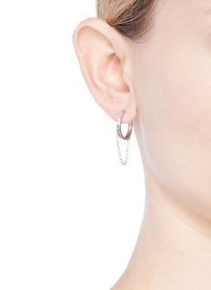 CZ by Kenneth Jay Lane Cubic zirconia chain fringe drop earrings
