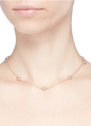 Figure View - Click To Enlarge - CZ by Kenneth Jay Lane - Bezel set cubic zirconia station choker
