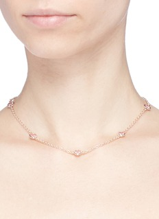 CZ by Kenneth Jay Lane Bezel set cubic zirconia station choker
