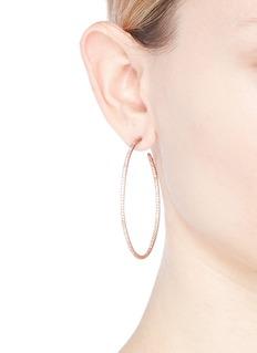 CZ by Kenneth Jay Lane Cubic zirconia hoop earrings