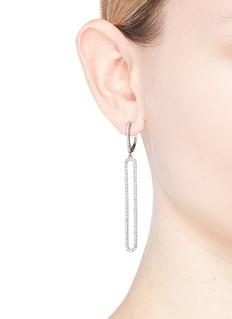 CZ by Kenneth Jay Lane Cubic zirconia long oval drop earrings