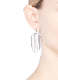 CZ by Kenneth Jay Lane Cubic zirconia row drop earrings