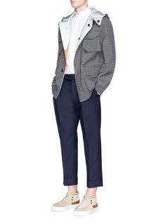 Wooster + LardiniReflective dot print reversible jacket