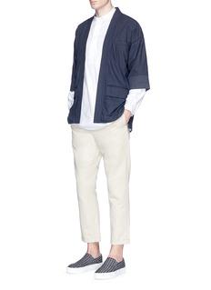 Wooster + LardiniPoplin kimono blazer
