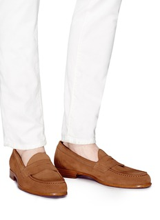 ANTONIO MAURIZI Suede penny loafers