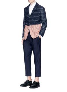 Wooster + LardiniSummer tweed colourblock soft blazer