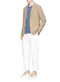 Barena'Torceo Taco' textured cotton jersey soft blazer