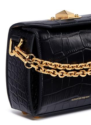 - Alexander McQueen - 'Box Bag 16' in croc embossed leather