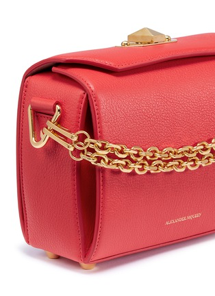 Detail View - Click To Enlarge - Alexander McQueen - 'Box Bag 19' in fine grain leather