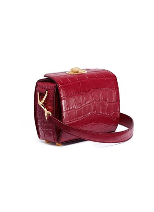 Figure View - Click To Enlarge - Alexander McQueen - 'Box Bag 19' in croc embossed leather