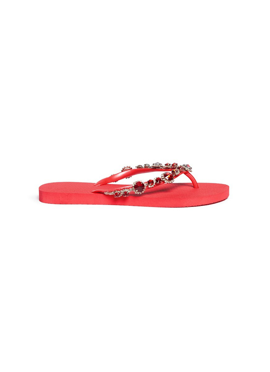 uzurii female marilyn crystal flip flops
