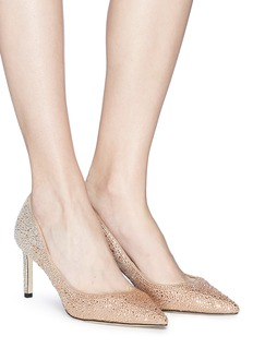 Pedder Red 'Reese' strass pavé suede pumps