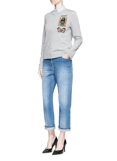 Valentino Cuban embellished French terry sweatshirt