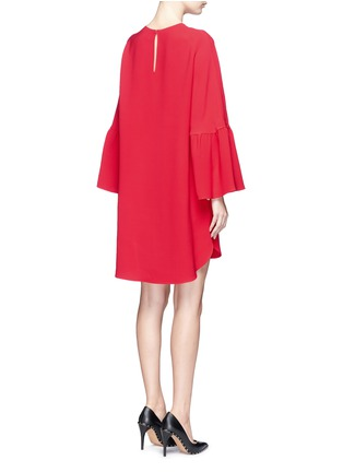 Back View - Click To Enlarge - Valentino - Ruffle sleeve Crepe Couture dress