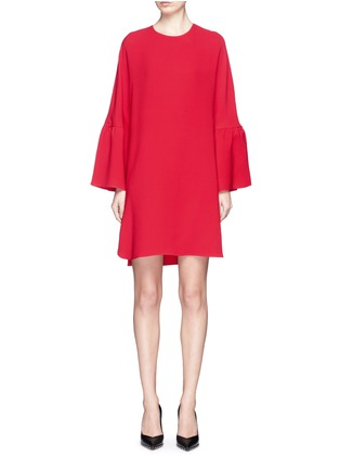 Main View - Click To Enlarge - Valentino - Ruffle sleeve Crepe Couture dress