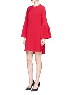 ValentinoRuffle sleeve Crepe Couture dress