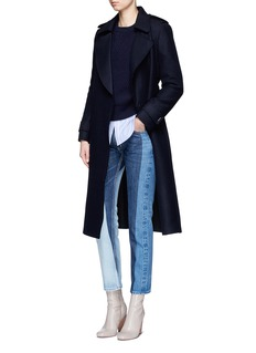 MO&CO. EDITION 10 Raw edge felt trench coat