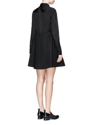 Back View - Click To Enlarge - Alexander Wang  - Lace-up shirt dress