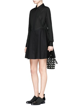 Figure View - Click To Enlarge - Alexander Wang  - Lace-up shirt dress